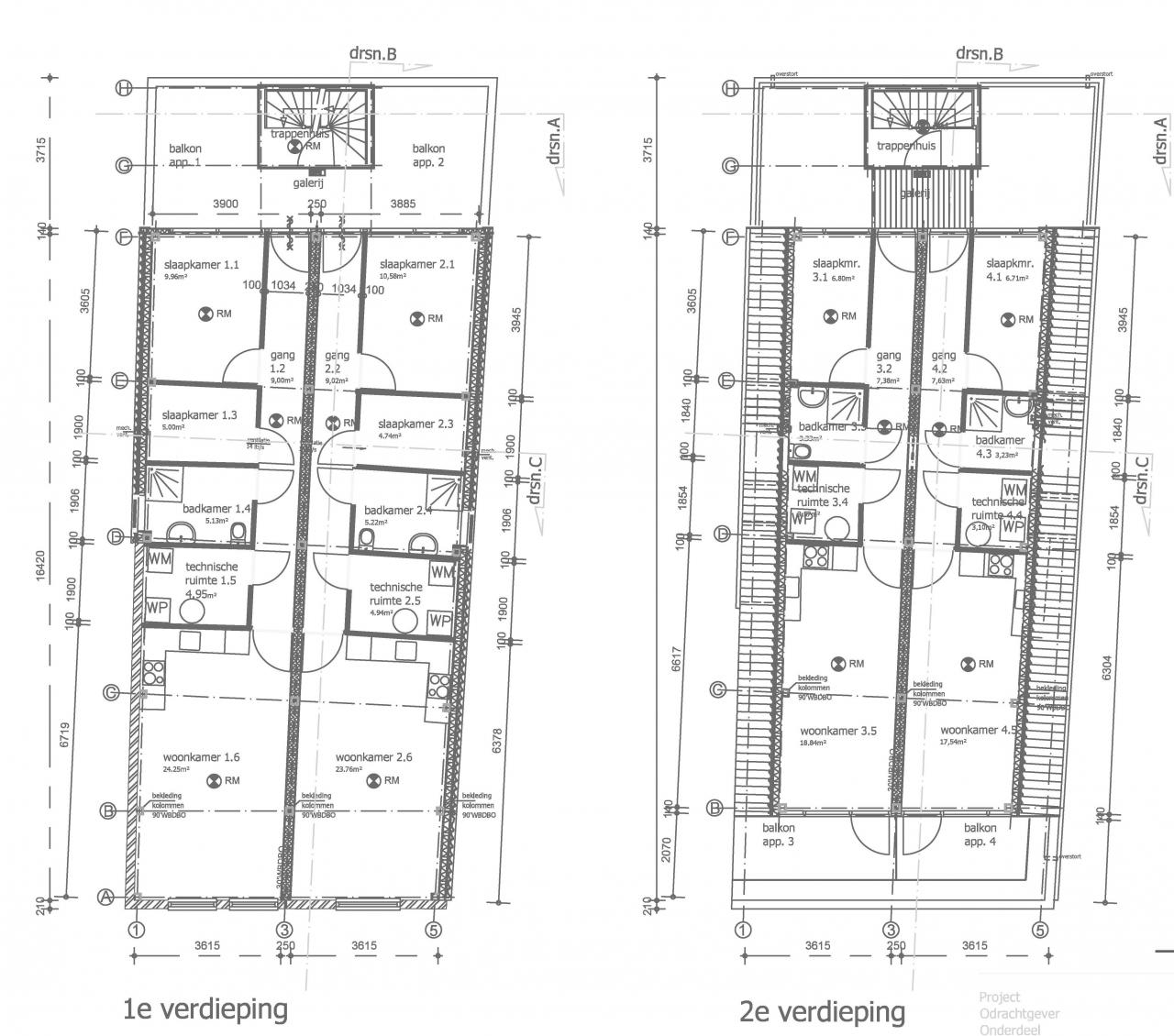 Eerste en tweede verdieping